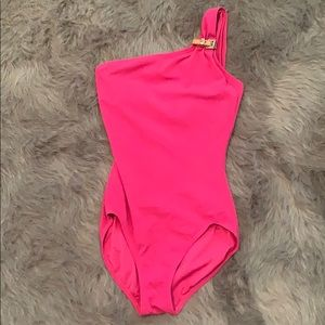 Michael Kors pink one piece swimsuit